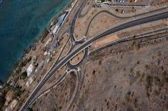 Väginfrastruktur Arkivbilder