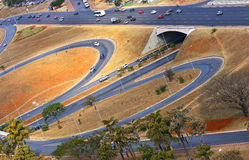 Väginfrastruktur i Brasilia, huvudstaden av Brasilien. Royaltyfri Bild