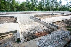 Vägkonstruktionsplats, stenar och grus Royaltyfria Foton