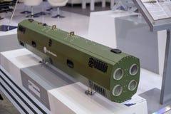 Vägledde anti--behållare och anti--flygplan missiler på utställningen Arkivbild