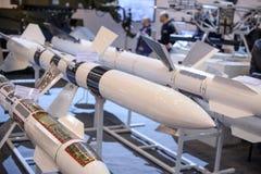 Vägledde anti--behållare och anti--flygplan missiler på utställningen Arkivfoton