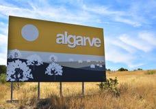 vägmärke av den Algarve regionen i sydliga Portugal Royaltyfria Foton