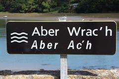 Vägmärke av l H för `-Aber Wrac ` Royaltyfri Foto