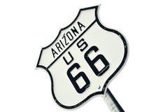 Vägmärke för huvudvägrutt 66, Arizona Royaltyfri Fotografi