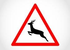 Vägmärke för information om område för löst djur Royaltyfria Bilder