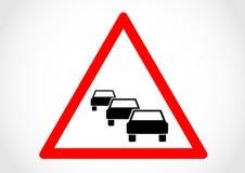 Vägmärke för information om trafikkö Royaltyfria Bilder