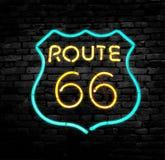 Vägmärke för Route 66 royaltyfria foton