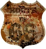 vägmärke för rutt 66 Royaltyfri Foto