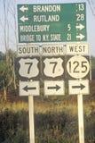 Vägmärken i New England royaltyfri bild