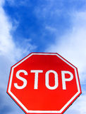 vägmärkestopp royaltyfria bilder