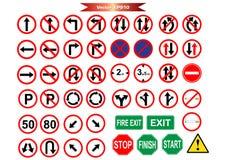 Vägmärkesymbolspacke för arbete Fotografering för Bildbyråer