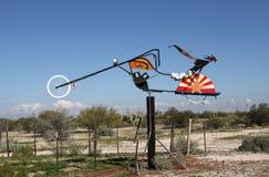 Vägren lätta Rider Riding Flag av Arizona Arkivfoton