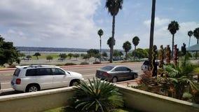 Vägsikt från ett strandhus royaltyfria foton