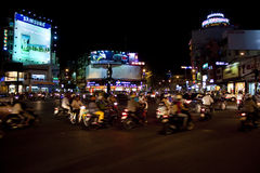 Vägtrafik i Saigon Arkivbild