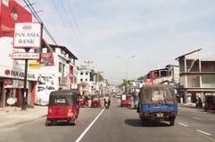 Vägtrafik i Sri Lanka Fotografering för Bildbyråer