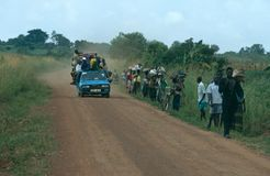 Vägtransport i Uganda. Royaltyfria Bilder