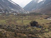 Vägtur till den Yumthang dalen, Sikkim INDIEN, 15th APRIL 2013: Y Royaltyfria Foton