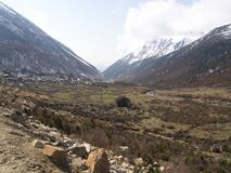 Vägtur till den Yumthang dalen, Sikkim INDIEN, 15th APRIL 2013: Y Royaltyfri Fotografi