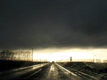Vägväg med bilen Royaltyfria Foton