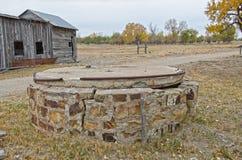 Väl på Boggsville på Santa Fe Trail Arkivfoto