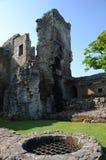 Väl på slotten Arkivbild
