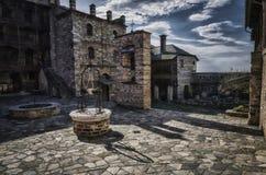Väl på territoriet av den heliga kloster Xenophon på Athos, G arkivfoto