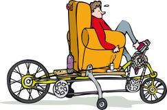 Väl till mods cykel royaltyfri illustrationer