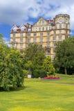 Väldehotellet, ståtar trädgårdar i badet, Somerset, England Royaltyfria Foton