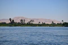 Väldig flod Nile Valley i Egypten Fotografering för Bildbyråer