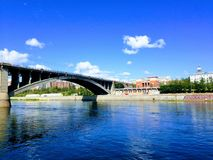 Väldig flod Yenisei royaltyfri fotografi