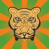 Väldig tigerframsida royaltyfri illustrationer