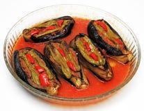 Välfylld aubergine royaltyfria foton