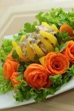 Välfylld bulgarisk peppar med kött Royaltyfri Fotografi