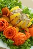 Välfylld bulgarisk peppar med kött av hönan Royaltyfria Bilder