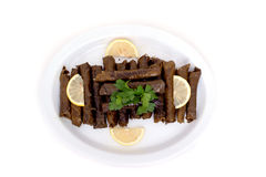 välfylld vegetarian för läckra druvaleaves Royaltyfria Bilder