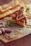 Välfyllda breadsticks Fotografering för Bildbyråer