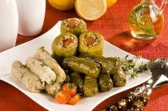 välfyllda grönsaker för dolma Arkivbild