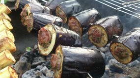 Välfyllda grillade aubergine Royaltyfria Bilder