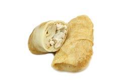 Välfyllda pannkakor som är välfyllda med ris royaltyfri foto