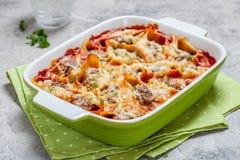 Välfyllda pastaskal för italiensk stil Royaltyfria Foton