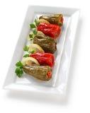 Biber dolmasi, turkisk mat Fotografering för Bildbyråer