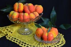 Välfyllda persikor Royaltyfria Foton