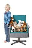välfyllda toys för pojke Royaltyfri Bild