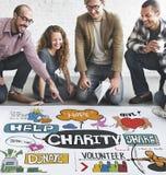 Välgörenhet donerar ger hopphjälpmedelbegrepp Royaltyfria Bilder