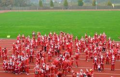 Välgörenhet Santa Race Arkivbild