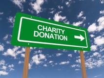 Välgörenhetdonation royaltyfri illustrationer
