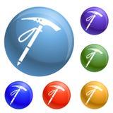 Välj den fastställda vektorn för berghjälpmedelsymboler royaltyfri illustrationer