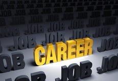 Välj en karriär, inte ett jobb stock illustrationer