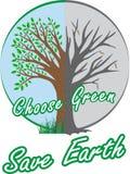 Välj grön räddningjord Arkivfoton