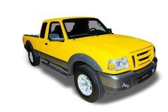välj lastbilen upp yellow arkivfoton